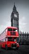 Obrazy na płótnie, fototapety, zdjęcia, fotoobrazy drukowane : London bus und Big Ben