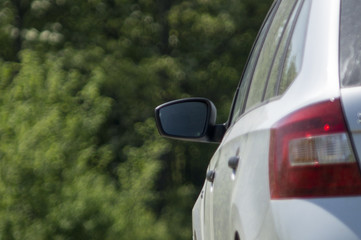 Rearview mirror on a car