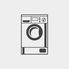 Washing machine monochrome icon