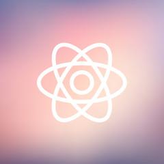 Atom thin line icon