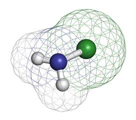 Chloramine (monochloramine) disinfectant molecule.