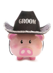 saving money on a stag party piggy bank