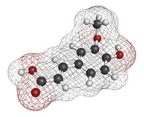 Hydroxycitric acid  (HCA, hydroxycitrate) molecule.