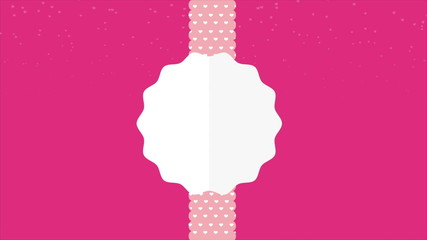 Hearts background with label, Video animation, HD 1080