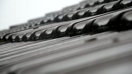 Regen auf dem Dach