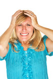 Helpless Woman Holding Head poster