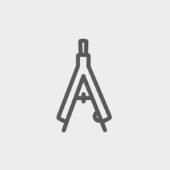 Compasses thin line icon