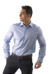 Handsome young man with elegant shirt isolated