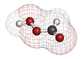 Performic acid (PFA) disinfectant molecule. Used as disinfectant
