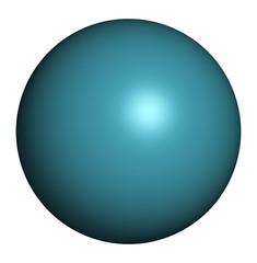 Xenon (Xe) atom. Occurs as unreactive noble gas.