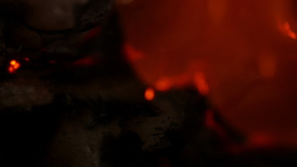 Paper burns and smolders in 3840X2160 4K UHD video.