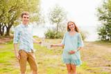 Happy pregnancy couple