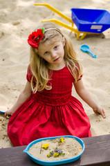 beautiful child playing