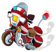 Cartoon motorcycle - illustration for the children
