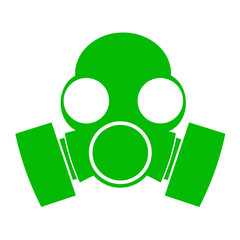 Icono aislado mascara antigas verde
