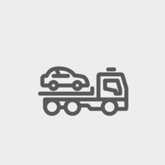 Car Towing Truck thin line icon