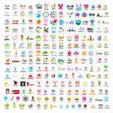 Fototapety biggest collection of vector logos people