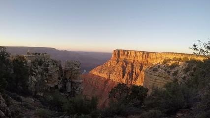 Grand Canyon Fish eye lens shot afternoon