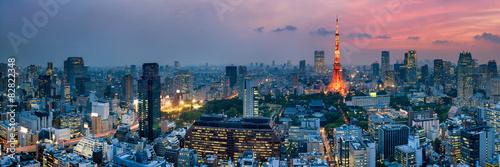 Plagát, Obraz Tokyo Tower bei Nacht