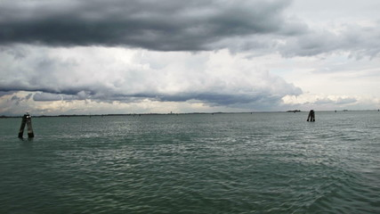 The Laguna of Venice in a rainy day
