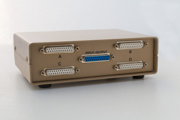 Printer data switch box (rear)