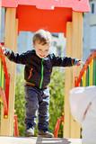 happy boy on the playground