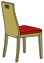 Hand drawing of a modern wooden chair