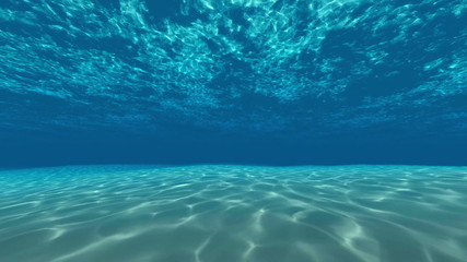Underwater, ocean surface and bottom