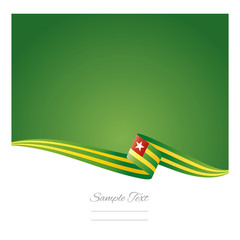 Abstract color background Togo flag vector
