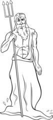 greek god poseidon coloring page