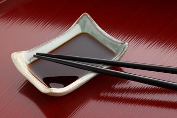 箸と醤油皿