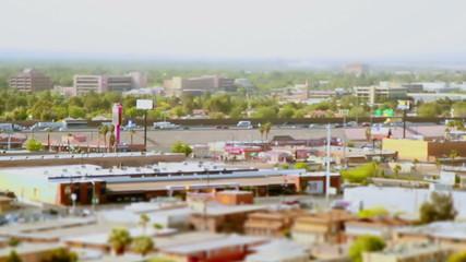 Las Vegas Tilt Shift Traffic time lapse day time