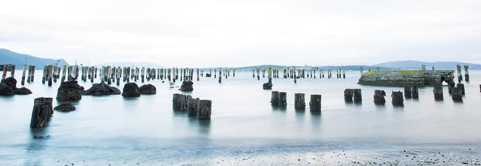 Panoramic view of calm ocean