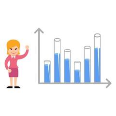 Business Woman Economic Set