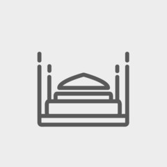 Bed thin line icon