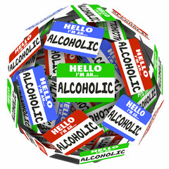 Hell I'm An Alcoholic Name Tags Self Help Group 12 Step Program