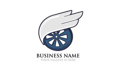 Flying Wheel Logo Template