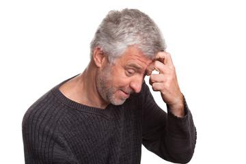 older man cunning gray hair