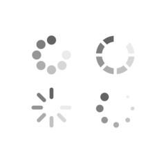 Set of loading symbols