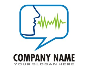 speak talk logo image vector