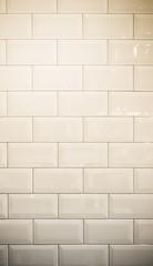 vintage filter : ceramic brick tile wall background texture