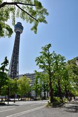 横浜マリンタワー前