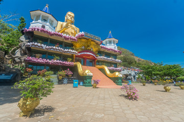 Golden temple at Dambulla in Sri Lanka