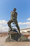Monument to Musa Dzhalil (1966) in Kazan city, Russia poster