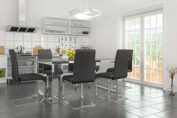 modern open plan kitchen - shot 04