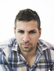 Young attractive man portrait with natural light