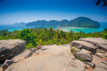 Travel background - Phi-Phi island, Krabi Province, Thailand