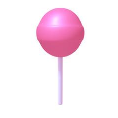 Lollipop 3d illustration