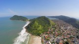 Aerial view of the Rio de Janeiro Coastline, Brazil