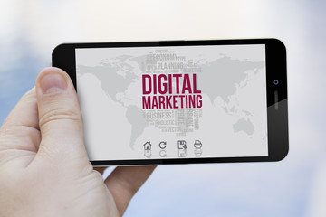 using a 3d generated digital marketing cell phone